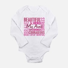 Tribute Square Breast Cancer Long Sleeve Infant Bo