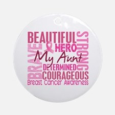 Tribute Square Breast Cancer Ornament (Round)