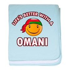 Lifes better with an Omani baby blanket