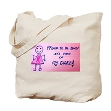 Proud to be Bald...Its part of my cure! Tote Bag