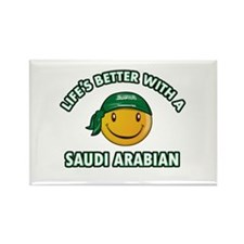 Lifes better with a Saudi Arabian Rectangle Magnet