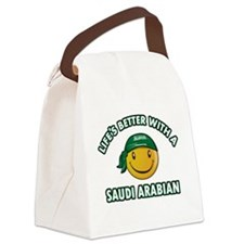 Lifes better with a Saudi Arabian Canvas Lunch Bag