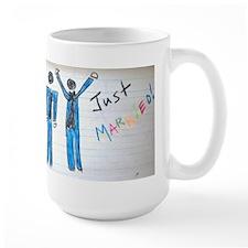 gay couple men just married Mug