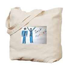 gay couple men just married Tote Bag