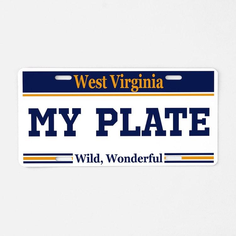 West Virginia - Wild, Wonderful - Current plate