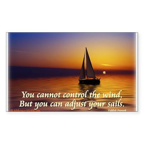 'Adjust Your Sails' Sticker (Rectangle)