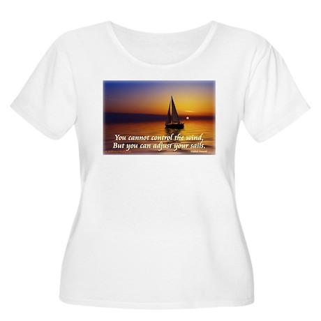 'Adjust Your Sails' Women's Plus Size Scoop Neck T