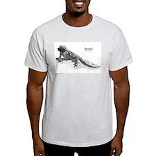 Bearded Dragon Ash Grey T-Shirt