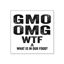 "GMO OMG Square Sticker 3"" x 3"""