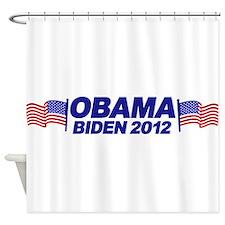 OBAMA BIDEN 2012 (w/ flags) Shower Curtain
