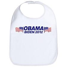 OBAMA BIDEN 2012 (w/ flags) Bib