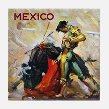 Vintage Bullfighting Tile Coaster