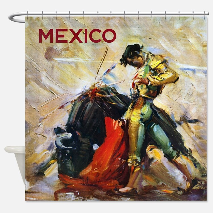 Mexico shower curtains fabric curtain liner