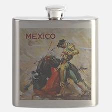 Vintage Bullfighting Flask