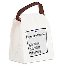 Retirement Plans (fishing) Canvas Lunch Bag