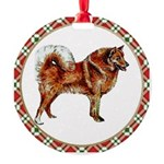 Finnish Spitz Round Ornament