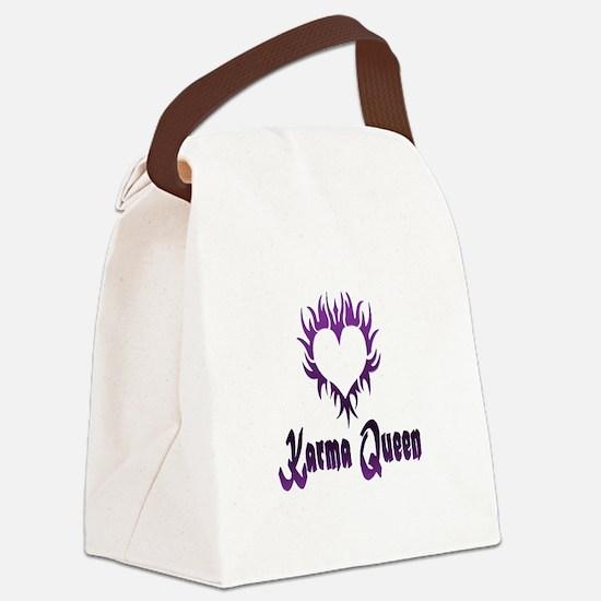 Karma Queen Canvas Lunch Bag