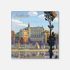 "Château d'Amboise Square Sticker 3"" x 3"""