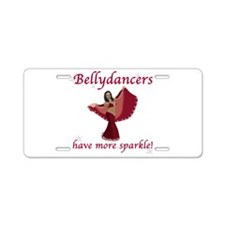 BD red sparkle 8in.png Aluminum License Plate