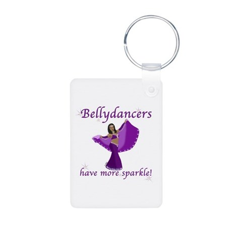 BD purple sparkle 8in.png Aluminum Photo Keychain