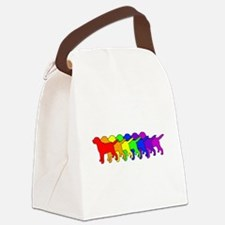 Rainbow Labradors Canvas Lunch Bag
