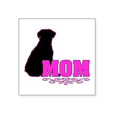 """Girly Labrador Mom Square Sticker 3"""" x 3"""""""
