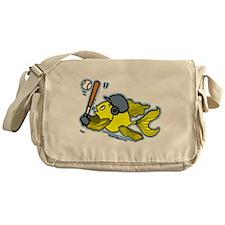 Fish Playing Baseball, Baseball Fish Messenger Bag