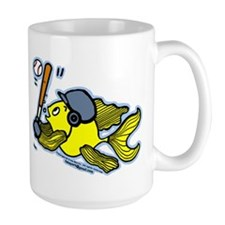 Fish Playing Baseball, Baseball Fish Mug
