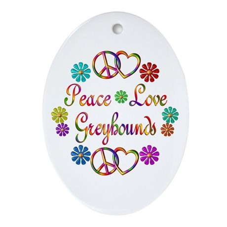 Greyhounds Ornament (Oval)
