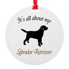 All About Lab Ornament