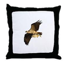 Osprey Fishing Throw Pillow