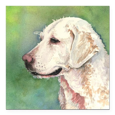 "Yellow Lab Square Car Magnet 3"" x 3"""