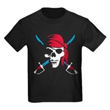 pirate saber skull and bones T