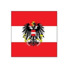 "Austria State Flag Square Sticker 3"" x 3"""