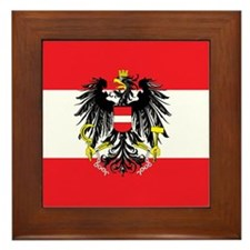 Austria State Flag Framed Tile