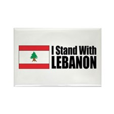 Stand With Lebanon Rectangle Magnet (10 pack)