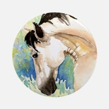 Spring Horse Ornament (Round)
