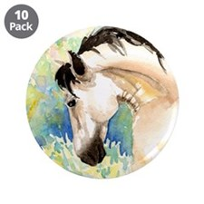 """Spring Horse 3.5"""" Button (10 pack)"""