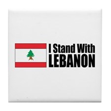 Stand With Lebanon Tile Coaster