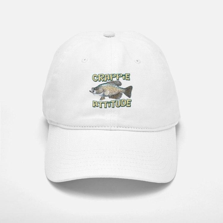 Crappie Attitude Baseball Baseball Cap