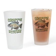 Crappie Attitude Drinking Glass