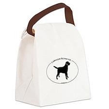 Labrador Oval Text Canvas Lunch Bag