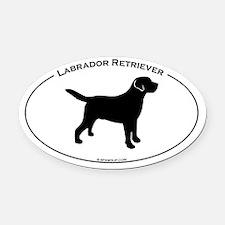 Labrador Oval Text Oval Car Magnet
