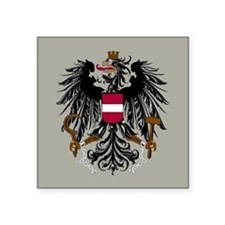 "Austria Coat Of Arms Square Sticker 3"" x 3"""