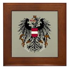 Austria Coat Of Arms Framed Tile