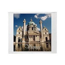 Vienna St Charles Church Throw Blanket