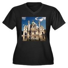 Vienna St Charles Church Women's Plus Size V-Neck