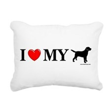 Love My Lab Silhouette Rectangular Canvas Pillow