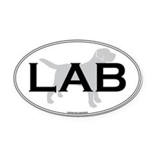 LAB II Oval Car Magnet