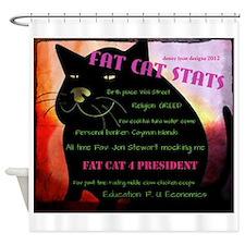 Fat Cat Stats Shower Curtain